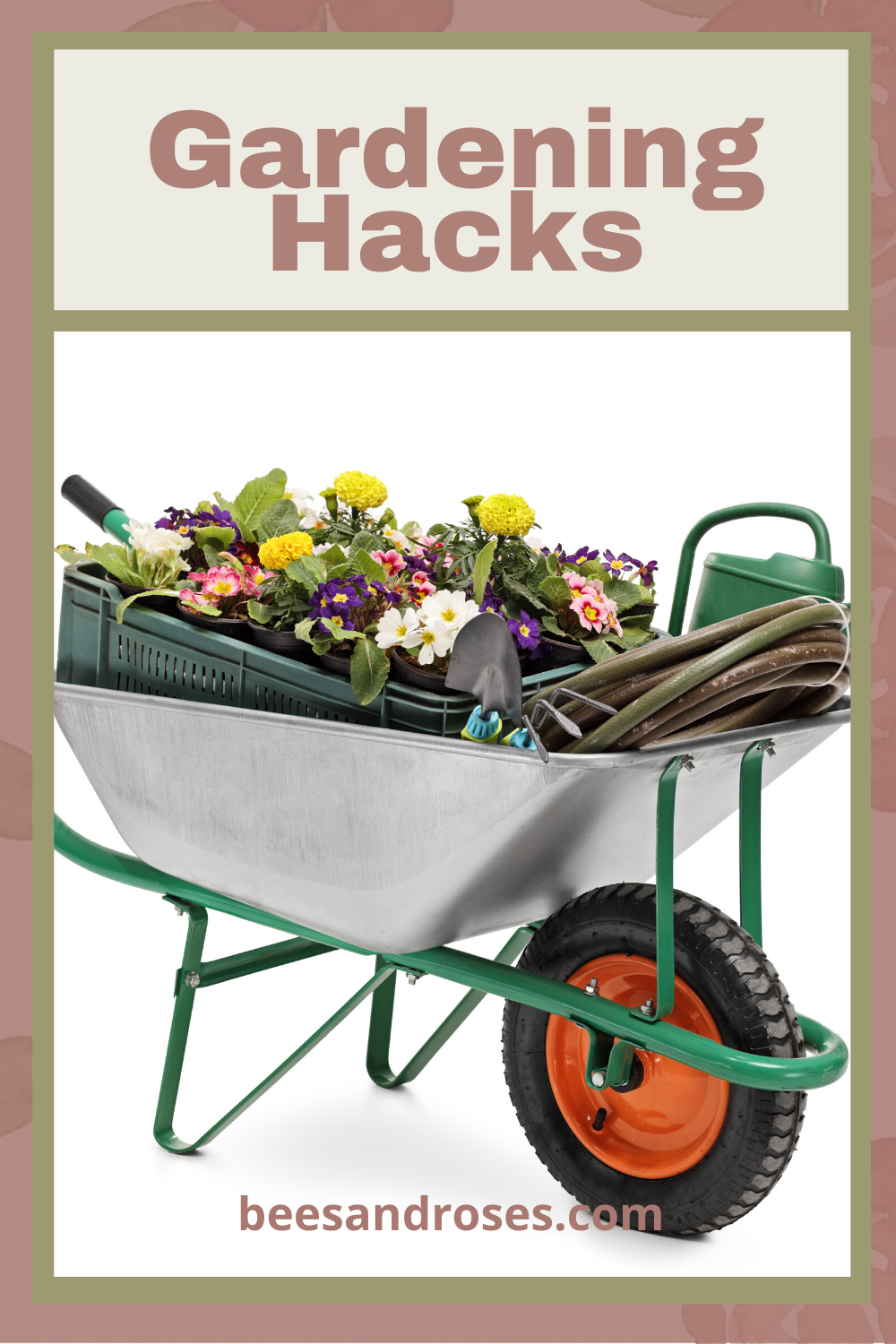 As most gardeners know, gardening requires a lot of knowledge in many subjects, but it doesn't hurt to know a few gardening hacks as well. Keep reading to up your gardening game with these hacks. #gardeninghacks #Gardeningtips #beesandrosesblog