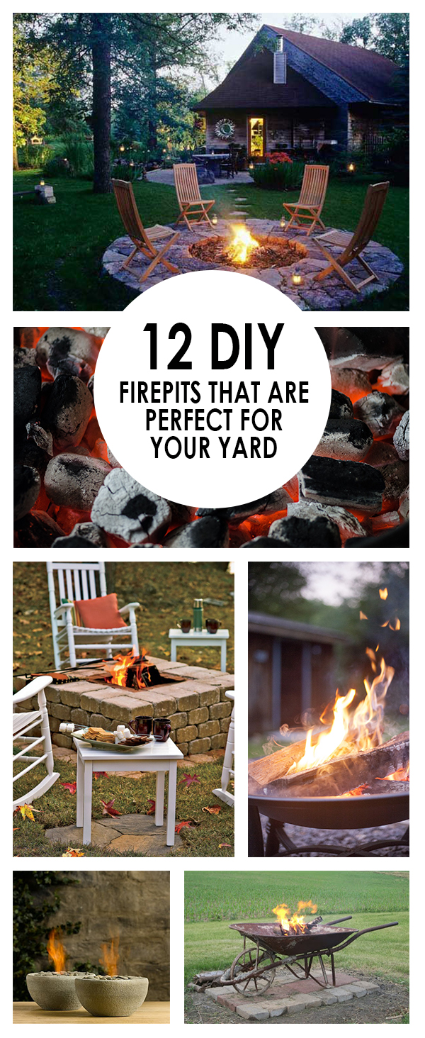 DIY fire pits, fire pit ideas, easy fire pit ideas, popular pin, outdoor entertainments, landscaping inspiration, outdoor living, easy DIYs, outdoor DIY projects