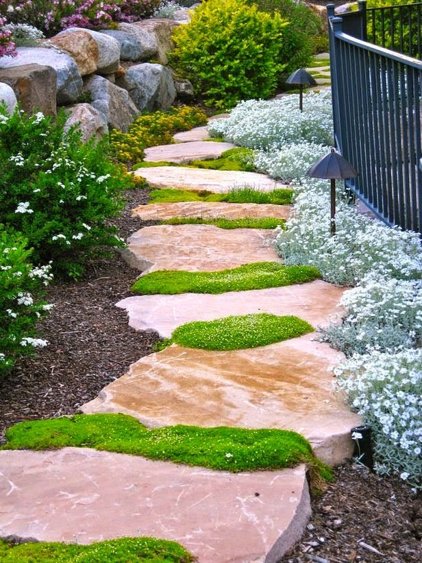 12 Heavenly Backyard Pathway Ideas Bees And Roses