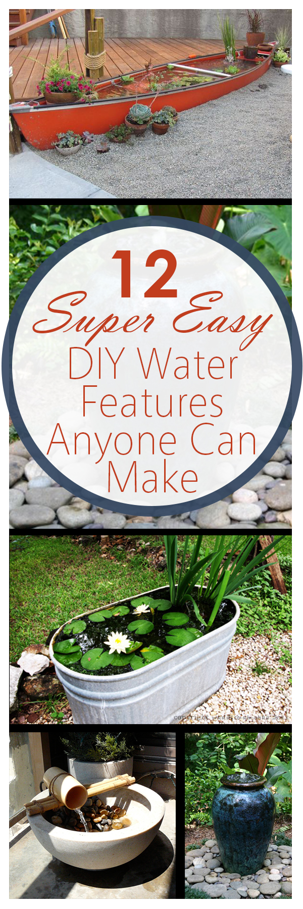 DIY water features, garden water features, landscaping ideas, DIY landscaping, landscape with water, gardening, popular pin, outdoor living