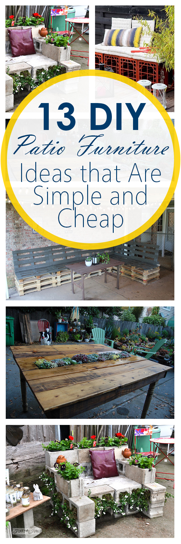 13 DIY Patio Furniture Ideas that Are Simple and Cheap| Patio Furniture, DIY Patio Furniture, Patio Furniture Projects, Patio Projects, Outdoor Living, Outdoor Entertainment. #outdoorliving #outdoorentertainment #patiofurniture #diypatiofurniture #patiodecoration