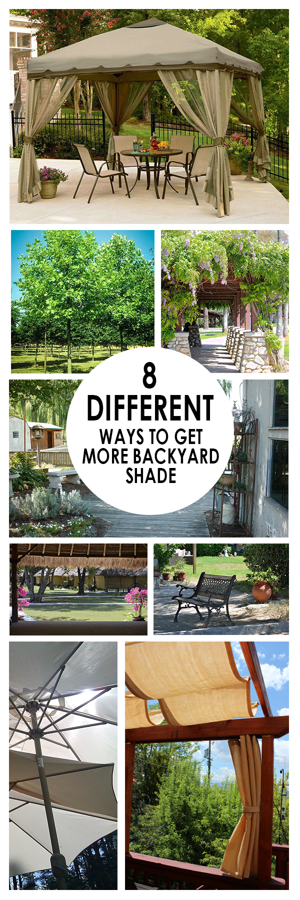 8 Different Ways to Get More Backyard Shade