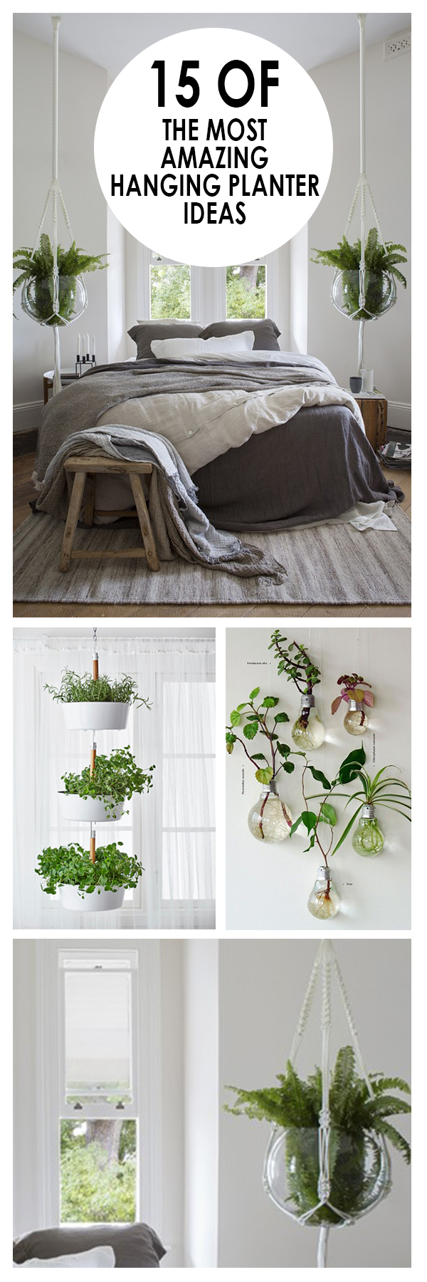 Hanging planters, garden planters, container gardening, popular pin, DIY container gardening, easy gardening.
