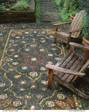 If you are looking for a piece of artwork for your yard, consider adding an outdoor mosaic, as they really tie yard features together.