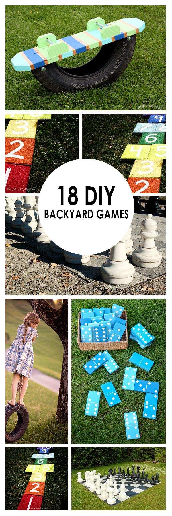 Backyard games, backyard hacks, popular pin, backyard living, backyards, DIY outdoor living, outdoor living, landscaping hacks, gardening.