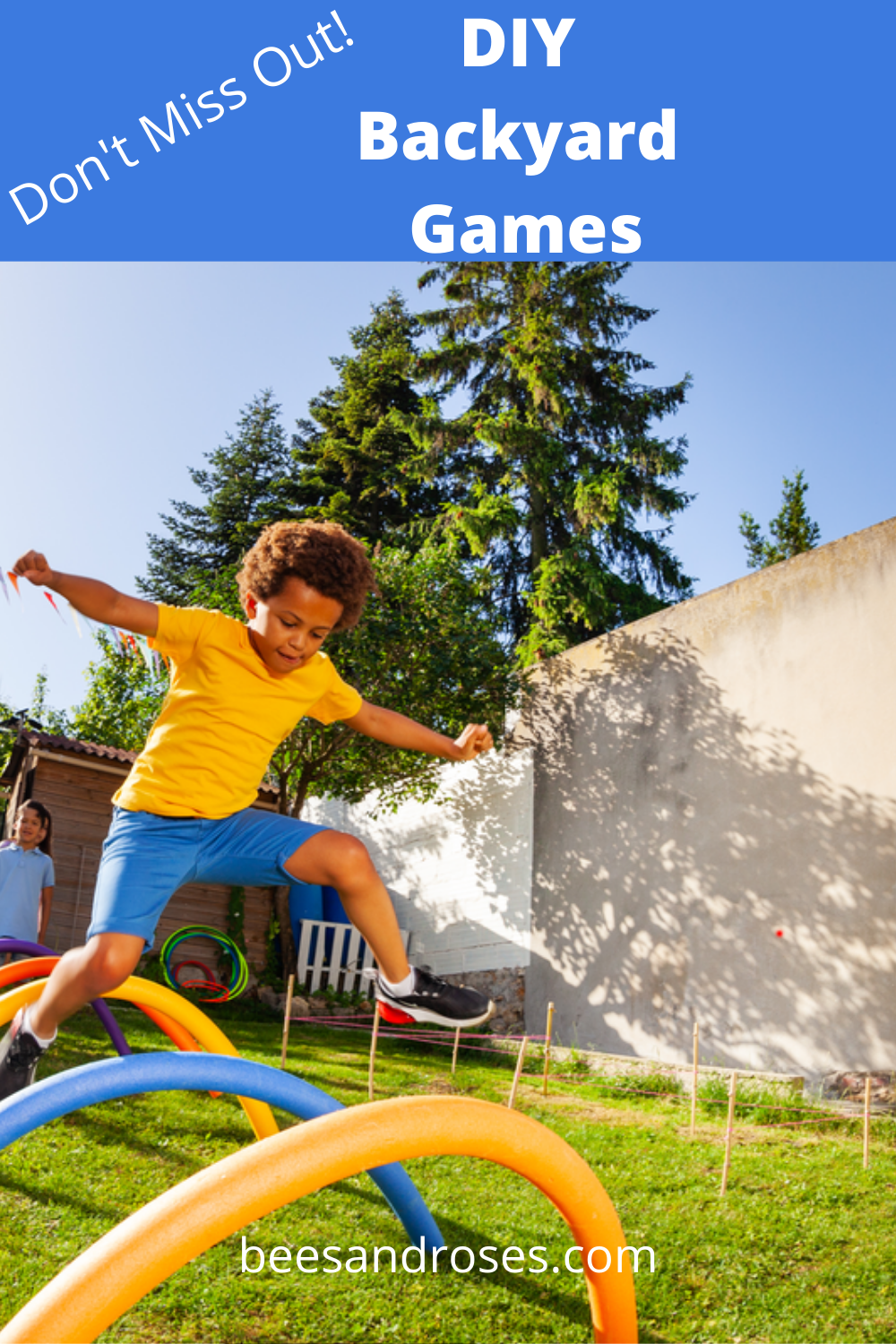 Don't miss out on the opportunity to make this summer the best ever. How do you do that? You do it by making these DIY backyard games that everyone will love. Fun and fast to make, and cheap as well. Family fun, kid fun and hours of laughs. Read on for more info. #outdoorgames #summerbackayrdidesas #DIYgames #beesandrosesblog
