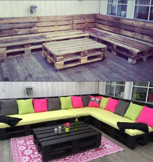 Outdoor seating, easy outdoor seating, outdoor living, popular pin, porch furniture, DIY porch furniture.