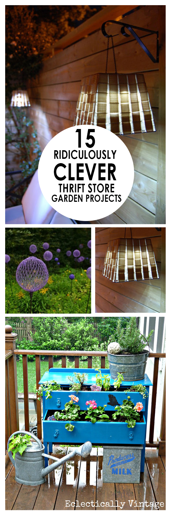 15 Ridiculously Clever Thrift Store Garden Projects ~ Bees ...