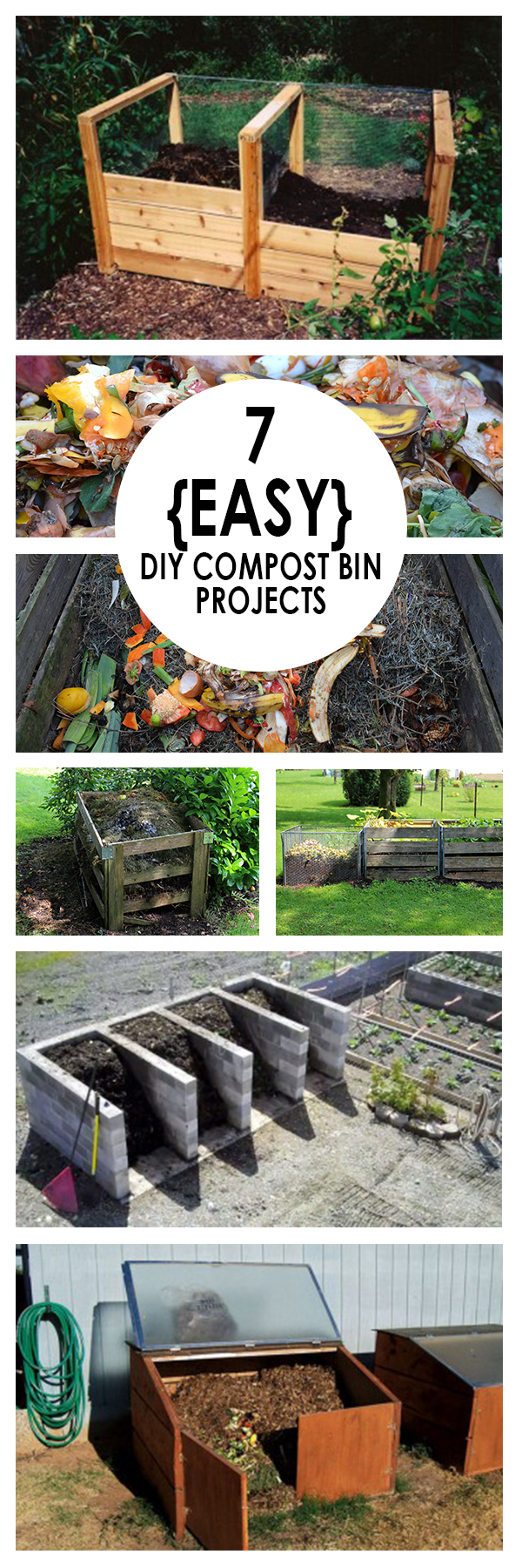 7 {Easy} DIY Compost Bin Projects