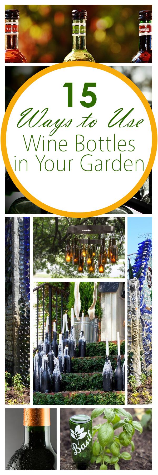 Garden projects, DIY garden, garden hacks, things to do with wine bottles, wine bottles, wine bottle craft, popular pin, crafting, outdoor living