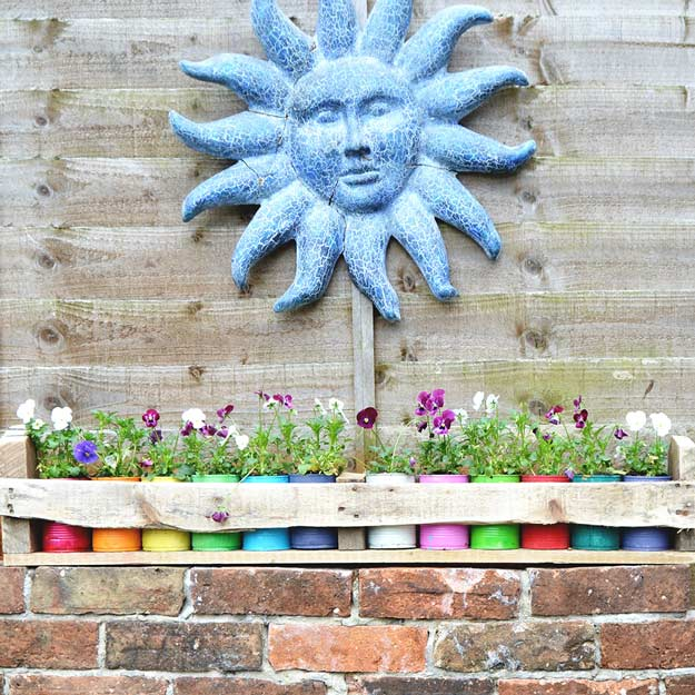 pallet-garden-projects-tin-can-planters