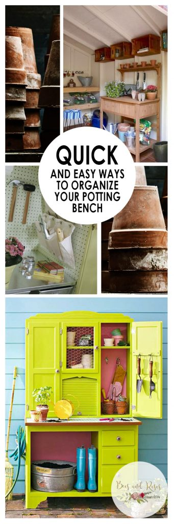 Quick and Easy Ways to Organize Your Potting Bench| How to Organize Your Potting Bench, Organize Your Potting Bench, Potting Bench Organization, Home Organization, Home Organization Tips and Tricks, Potting Bench, DIY Potting Bench, Potting Bench Projects, Popular Pin