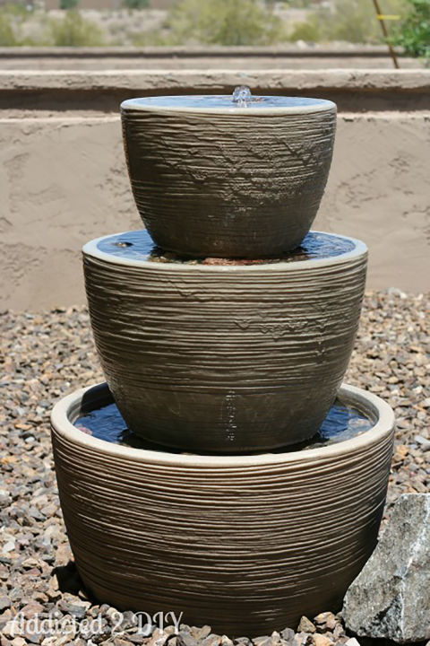 Super Simple DIY Outdoor Water Features| Outdoor Water Features, DIY Outdoor Water Features, Outdoor Water Feature Projects, DIY Garden, DIY Garden Projects, Outdoor Home Hacks, Gardening, Gardening DIY