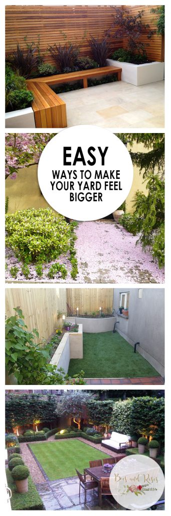 Easy Ways to Make Your Yard FEEL Bigger| Small Yard Design, Small Gardening Tips and Tricks, Fast Ways to Make Your Yard Feel Bigger, Yard and Landscaping, Landscaping Tips and Tricks,