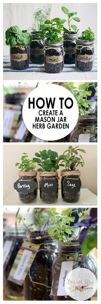 HMason Jar Herb Garden, Herb Garden, Indoor Garden, Indoor Gardening, Gardening Ideas, Garden, Garden Ideas