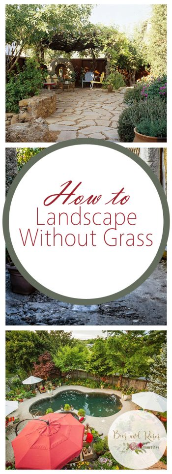 How to Landscape Without Grass - Bees and Roses| Landscaping, Landscaping Planning, How to Plan Your Landscape, Gardening, Gardening DIY, DIY Garden, DIY Landscape, Easy Landscaping, Landscaping Tips and Tricks #Landscape #Garden
