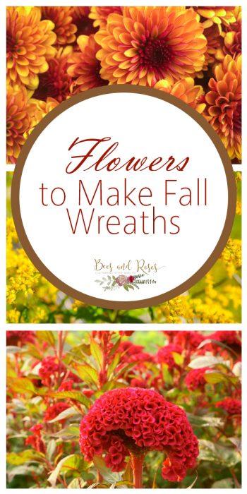 Fall Wreaths | Fall Flowers for Fall Wreaths | DIY Fall Wreaths | Wreaths | Fall Decorations | Fall Front Porch Decor | Fall Flowers