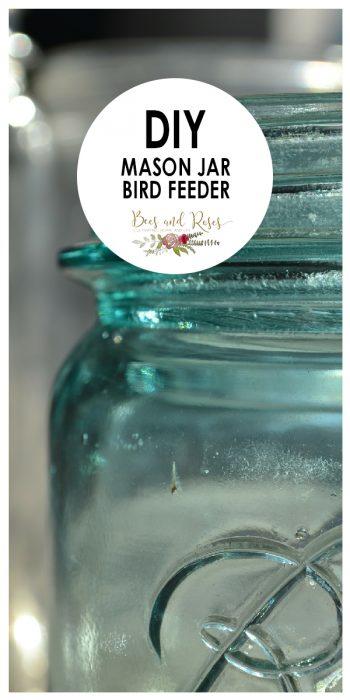mason jar bird feeder | mason jar | bird feeder | bird | bird feed | diy | diy mason jar bird feeder | garden | garden decor
