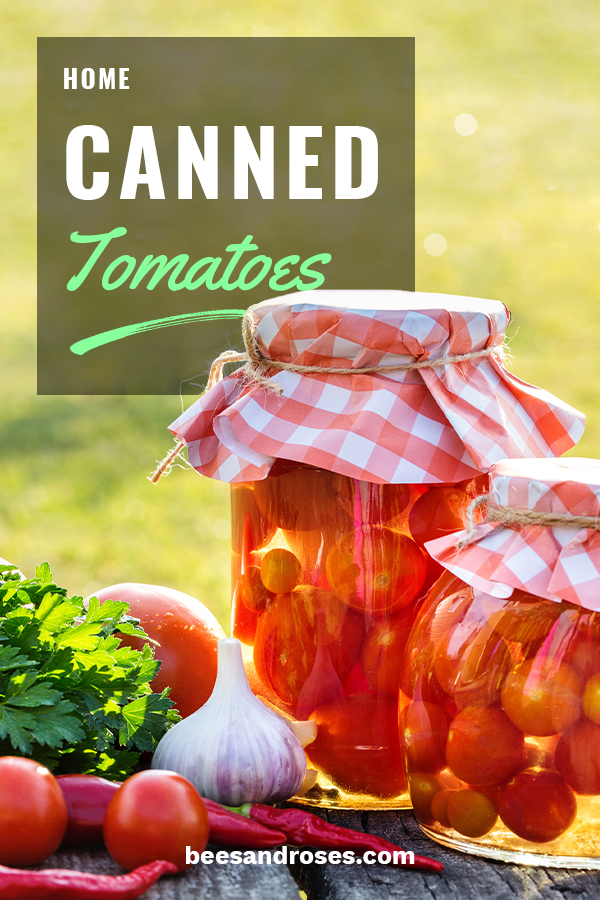 Hope your summer was successful in the garden and you were left with so many tomatoes that you couldn't eat them all and had to can them. Now, the colder months are here and you have all those jars of tomatoes. Bees And Roses wants to share with you some great ways to use those them. Everybody knows that home canned tomatoes make canned tomatoes from the grocery store taste like cardboard. Take a look at the delicious things you can make by reading on. #homecannnedtomatoes #cannedtomatorecipes