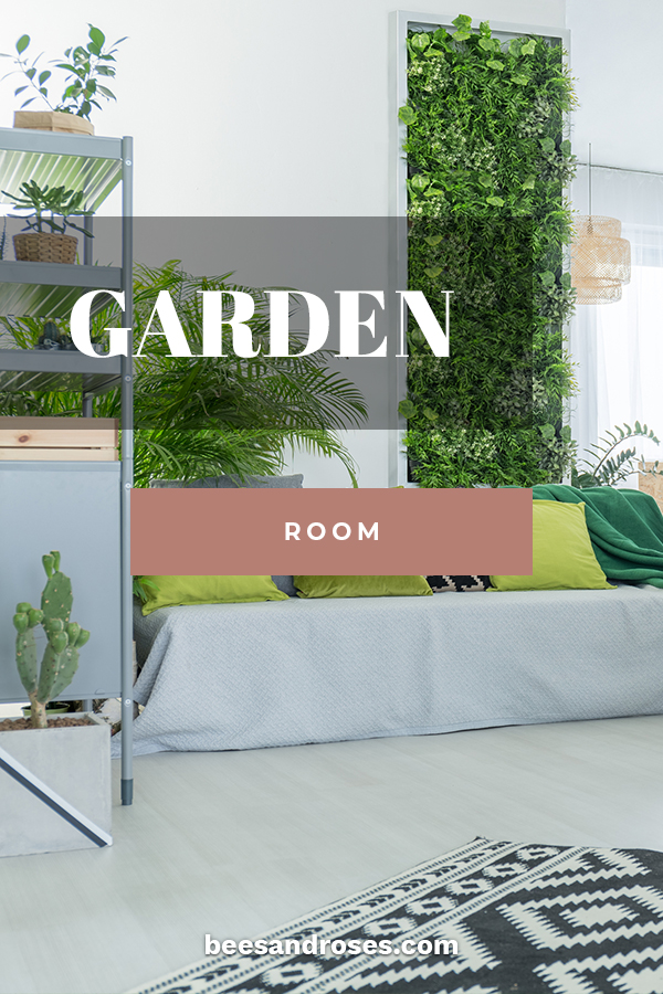 """Since I live in an area with very cold and snowy winters, I would love to have a garden room. The idea just sounds so inviting. Gorgeous plants everywhere. I'm hooked on the idea and after you read this post, I am sure these garden room ideas will """"grow"""" on you as well. I will focus on indoor and outdoor garden rooms, extension ideas for your home and ways to design the interiors. Keep reading for more info!! #gardenroomideas #gardenroominteriors"""