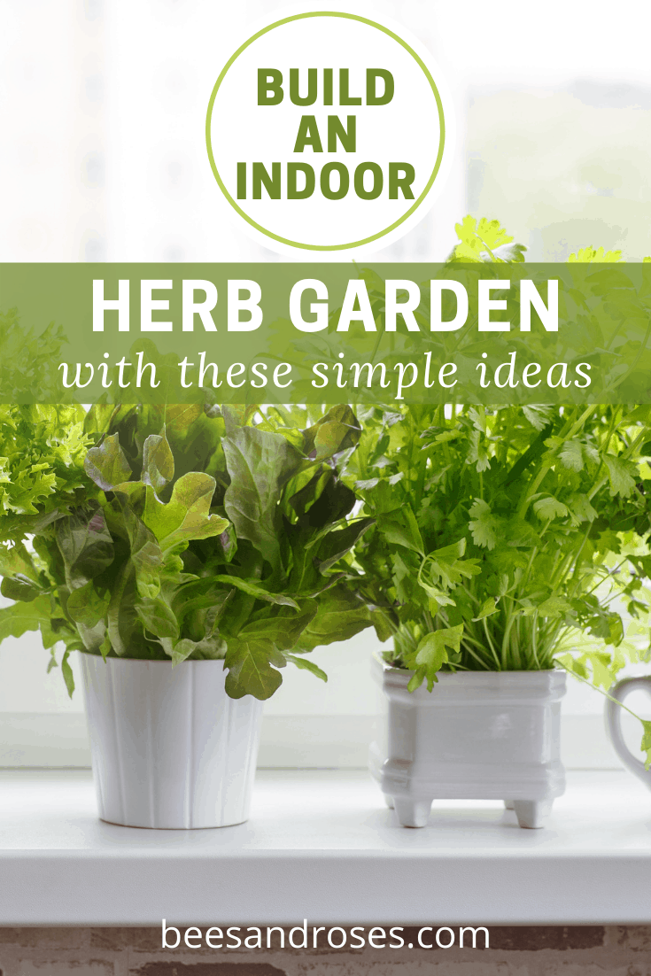 Beesandroses.com is the ultimate spot for gardening tips and tricks! Find all you need to master your green thumb! If you want to have the ability to grow herbs year round, check out these ideas for building an indoor herb garden.