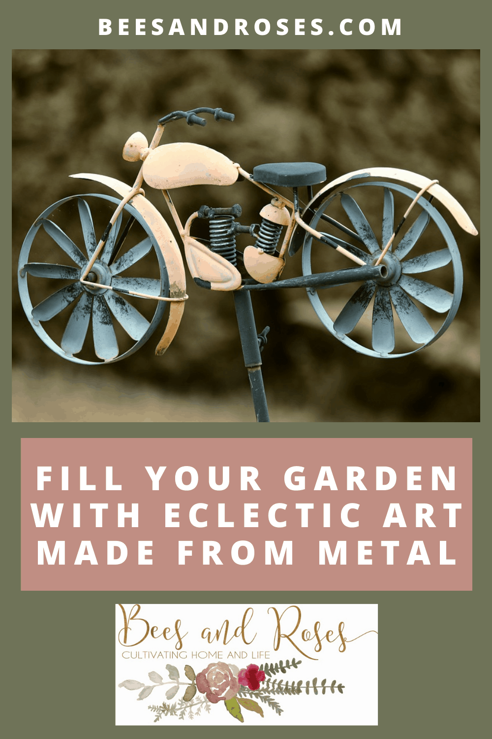 Beesandroses.com is your new guide to all things garden related! Find all all you need to know about growing healthy, thriving plants! Add some flair to your garden with this amazing metal garden art!